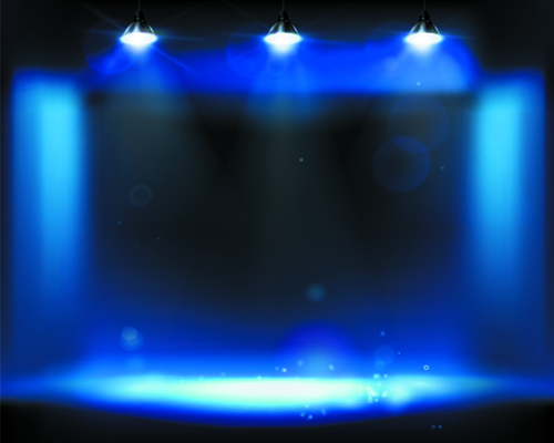 Stage And Spotlights Design Vector 05 Free Download