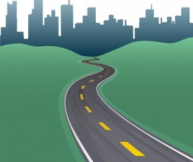 Different Road design vector 03