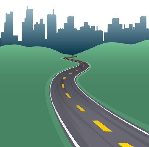 Different Road design vector 03