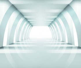 Spacious Empty White Room design vector 03