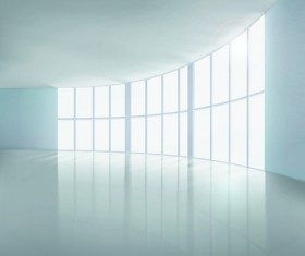 Spacious Empty White Room design vector 04