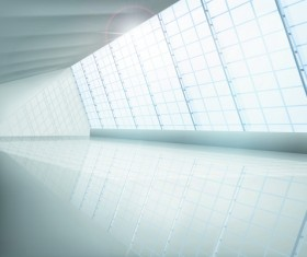 Spacious Empty White Room design vector 05