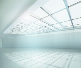 Spacious Empty White Room design vector 06