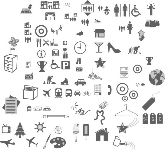 Commonly used graphic icons vector