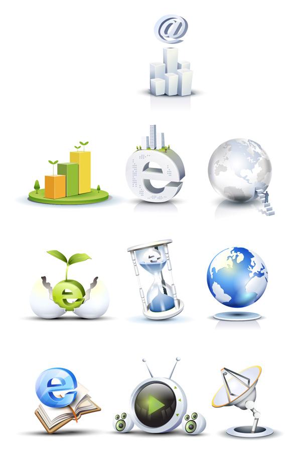 High tech style icon 1 vector