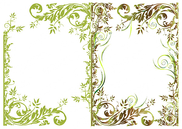 floral border fashion vector free download