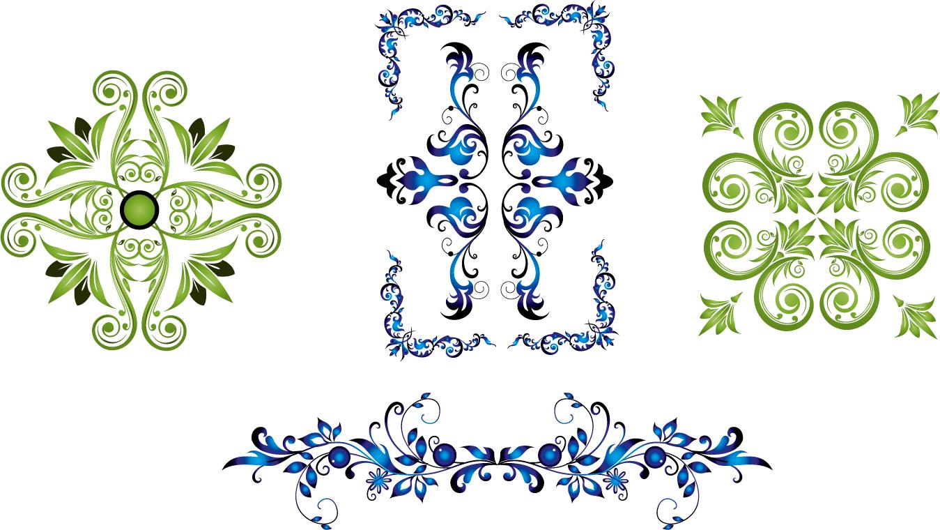 Delicate floral frames vector - Vector Frames & Borders free download