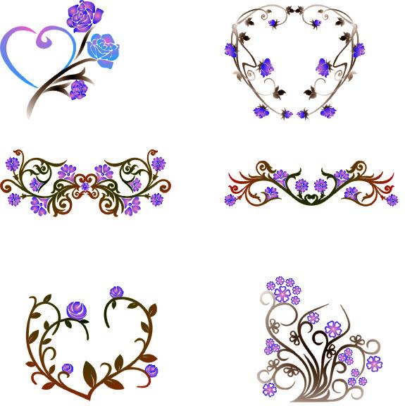 Floral border vector - Vector Frames & Borders free download