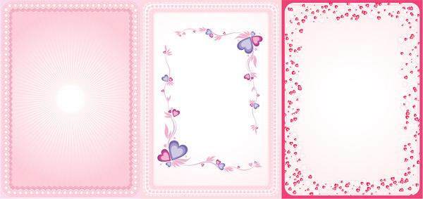 Pink Hearts Border