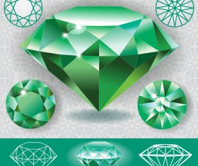 Vector Green diamond set 01