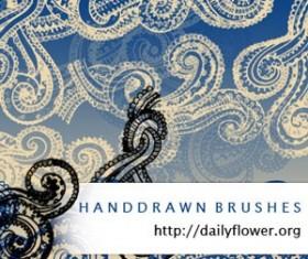 Handrawn Swirls Photoshop Brushes