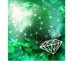 Vector Green diamond set 02