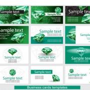 Link toVector green diamond set 03