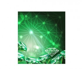 Vector Green diamond set 04