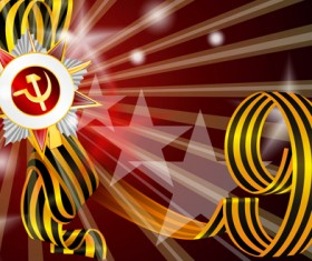 Victory Day 9 May design vector graphics 05