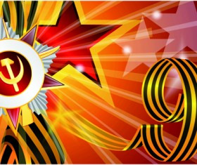 Victory Day 9 May design vector graphics 06