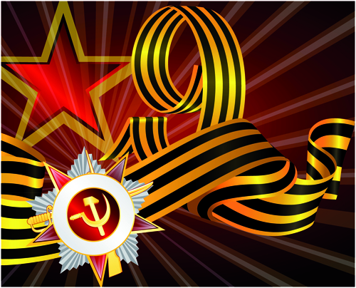 Victory Day 9 May design vector graphics 07