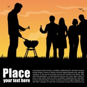 Link toSet of barbecue design vector 04