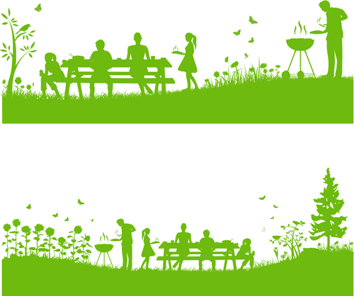 Set of Barbecue design vector 05 - Vector Life free download