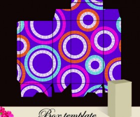 Floral Box template vector 03