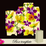 Link toFloral box template vector 05