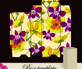 Floral Box template vector 05