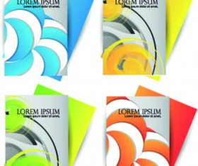 Brochures and flyers abstract cover vector 03