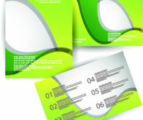 Brochures and flyers abstract cover vector 04