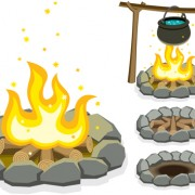 Link toSet of camping design elements vector 01
