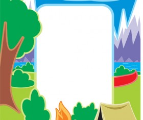 Set of Camping design elements vector 10