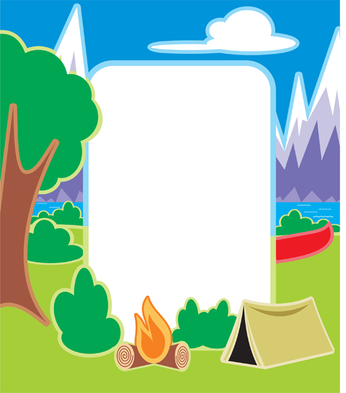 Source Freedesignfile Report Camping Clipart Border