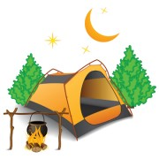Link toSet of camping design elements vector 11
