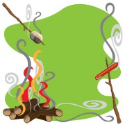 Link toSet of camping design elements vector 12