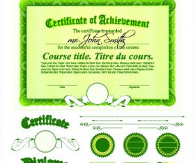 Diploma Certificate Template and ornaments vector 05