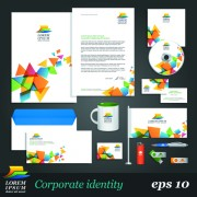 Link toCorporate identity kit vector templates 04