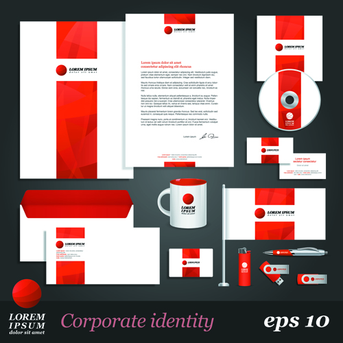 Corporate Identity Kit vector Templates 05 - Vector Business ...