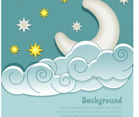 Cute Weather elements vector 01