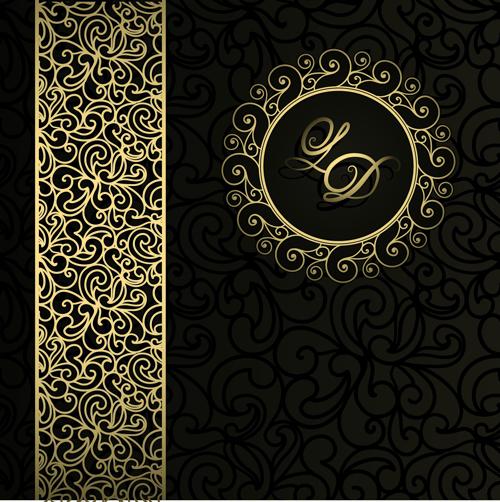 ... Damask Patterns background 01 - Vector Background free download