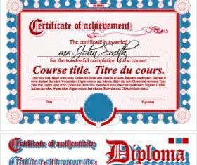 Diploma Certificate design elements vector set 04