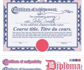 Diploma Certificate design elements vector set 05