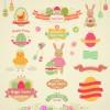 Vintage Easter Elements vector 01