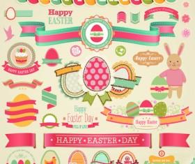 Vintage Easter Elements vector 02