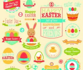 Vintage Easter Elements vector 03