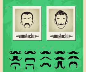 Man's Faces design vector 01