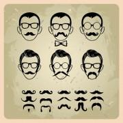 Link toMan's faces design vector 02