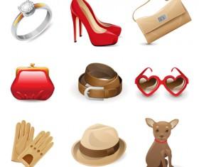 Fashion Dress ornaments vector 01