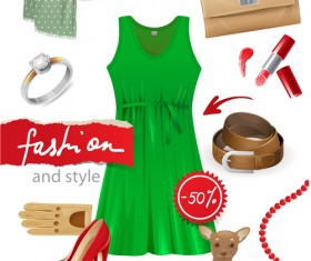Fashion Dress ornaments vector 02