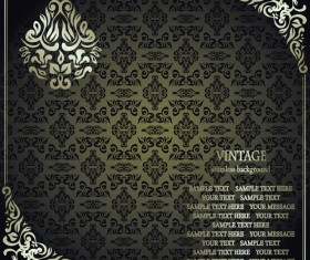 Floral Vintage background vector 01
