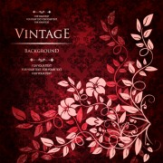 Link toFloral with vintage backgrounds vector 01