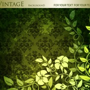 Link toFloral with vintage backgrounds vector 02